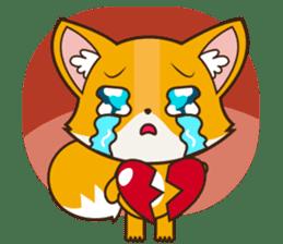 Foxy, cute little fox sticker #2079897