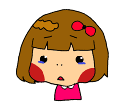 Japanese girl kids sticker #2079993