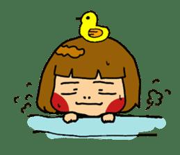 Japanese girl kids sticker #2080009
