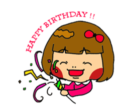 Japanese girl kids sticker #2080015