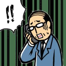 Manga Japanese businessman sticker #2080504