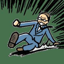 Manga Japanese businessman sticker #2080506