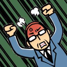 Manga Japanese businessman sticker #2080511