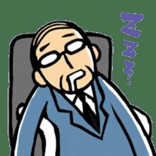 Manga Japanese businessman sticker #2080521