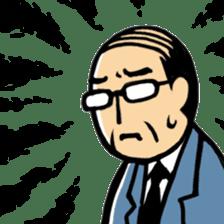 Manga Japanese businessman sticker #2080522