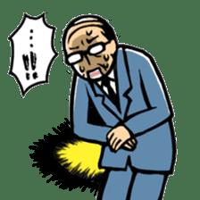 Manga Japanese businessman sticker #2080527