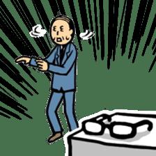 Manga Japanese businessman sticker #2080528
