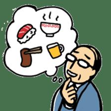 Manga Japanese businessman sticker #2080533