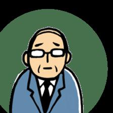 Manga Japanese businessman sticker #2080534