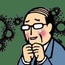 Manga Japanese businessman sticker #2080535