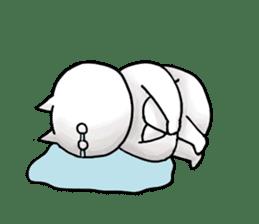lethargic cat sticker #2082023
