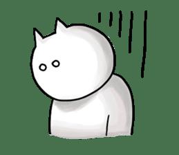 lethargic cat sticker #2082024