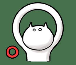 lethargic cat sticker #2082029
