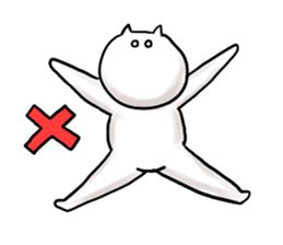 lethargic cat sticker #2082030