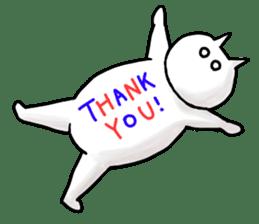 lethargic cat sticker #2082033