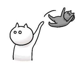 lethargic cat sticker #2082038