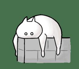 lethargic cat sticker #2082049