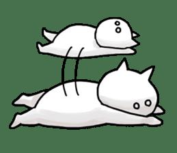 lethargic cat sticker #2082050