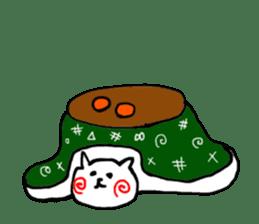 The cat has strange cheeks sticker #2083317