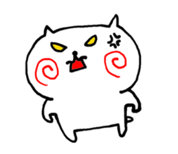 The cat has strange cheeks sticker #2083330