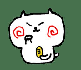 The cat has strange cheeks sticker #2083340