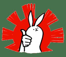 rabbit with beautiful legs 2 sticker #2084221