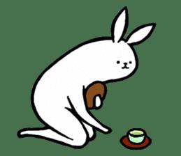 rabbit with beautiful legs 2 sticker #2084225