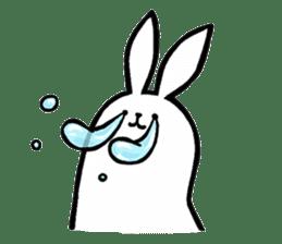 rabbit with beautiful legs 2 sticker #2084232
