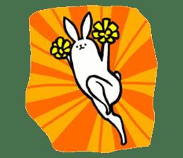 rabbit with beautiful legs 2 sticker #2084233