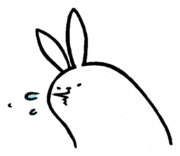 rabbit with beautiful legs 2 sticker #2084235