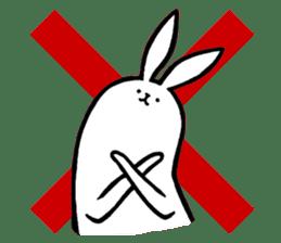 rabbit with beautiful legs 2 sticker #2084236