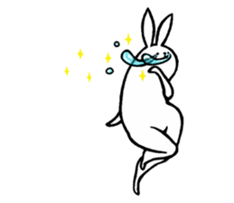 rabbit with beautiful legs 2 sticker #2084239