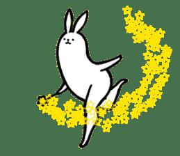 rabbit with beautiful legs 2 sticker #2084244