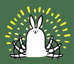 rabbit with beautiful legs 2 sticker #2084249