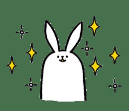 rabbit with beautiful legs 2 sticker #2084250