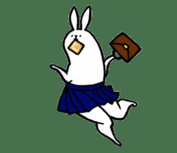 rabbit with beautiful legs 2 sticker #2084251