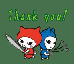 Nyanja English(ninja cat) sticker #2084611
