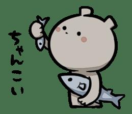Bear&Salmon sticker #2085846