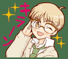 Glasses boys sticker #2086508