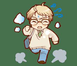 Glasses boys sticker #2086510