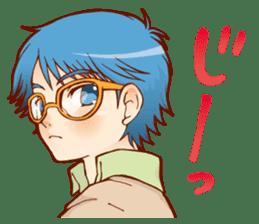 Glasses boys sticker #2086513