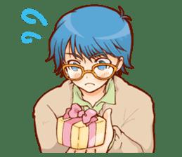 Glasses boys sticker #2086515
