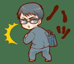Glasses boys sticker #2086527