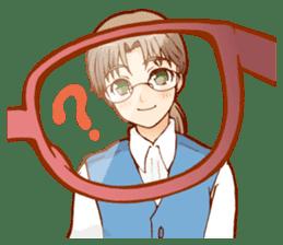 Glasses boys sticker #2086528
