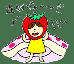strawberry girl ICHIKO sticker #2086823