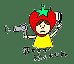 strawberry girl ICHIKO sticker #2086824