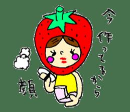 strawberry girl ICHIKO sticker #2086826