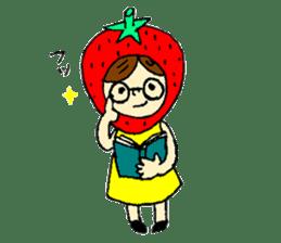 strawberry girl ICHIKO sticker #2086829