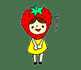 strawberry girl ICHIKO sticker #2086832