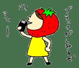 strawberry girl ICHIKO sticker #2086834